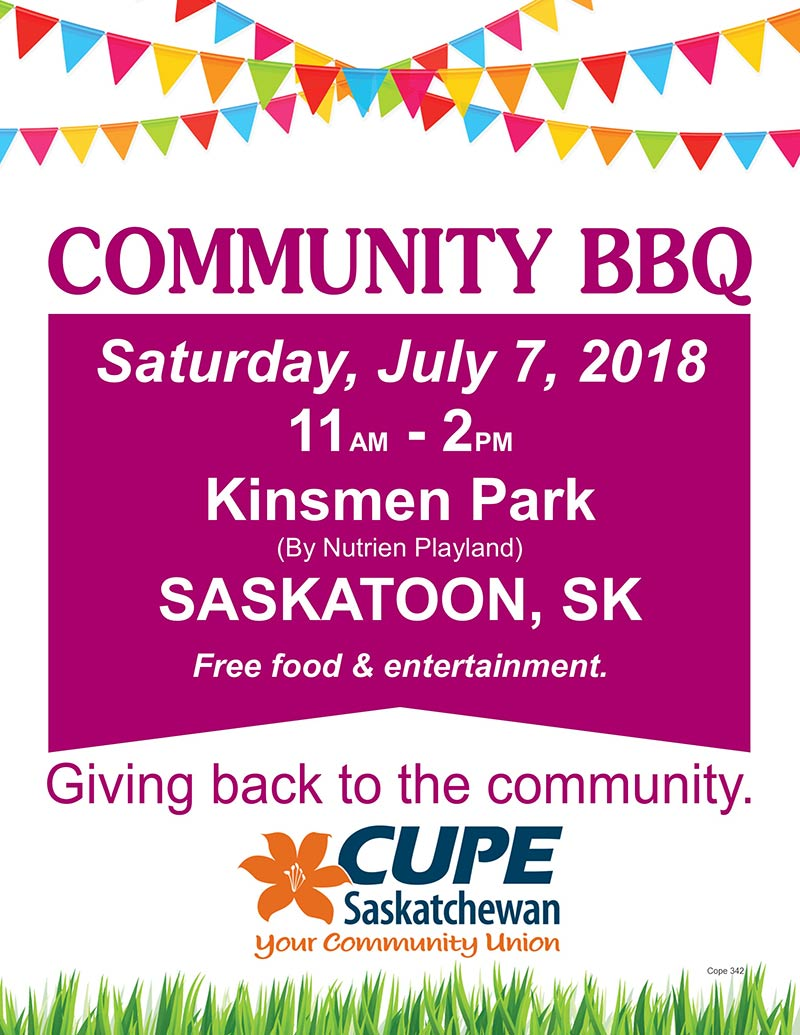 July 7 2018 Community BBQ SASKATOON Final